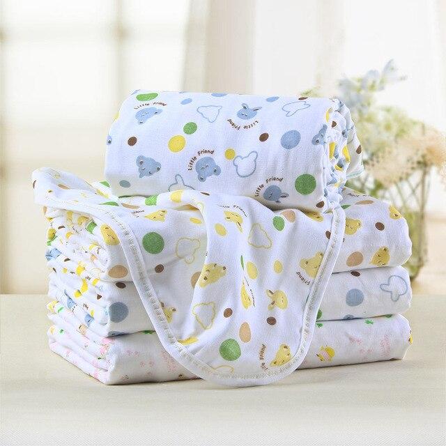 6 Layers 80*75cm Baby Gauze Stuff Bathrobe Cape De Bain Infantil Ultra Soft Gauze Newborn Toalha De Banho Beach Towels