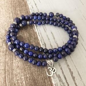 Image 3 - Handmade wrapped bracelet Jewelry Lapis Lazuli 108 Mala Necklace & Bracelet Meditation Gem stone Prayer Beads Bracelet
