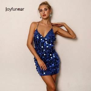 Joyfunear Sequin Summer Sexy Women Bandage Dresses Party 1aa85d85b