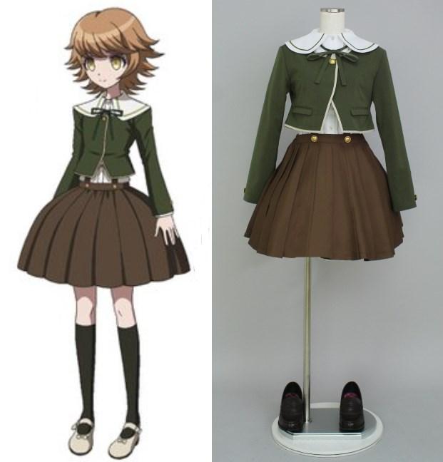 Dangan Ronpa Fujisaki Chihiro cosplay kostymer halloween - Maskeradkläder och utklädnad