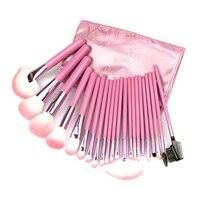 22 Pcs Set Natural Wool Fiber Make Up Brush Professional Cosmetic Makeup Brush Set Foundation Powder