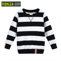 Pioneer Camp Kids 2017 Boys Long Sleeve T Shirt Kids Black Shirt Best Quality Children Black