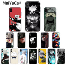 Maiyaca anime naruto hatake kakashi alta qualidade caso de telefone para apple iphone 8 7 6s plus x xs max 5 5S se xr celulares