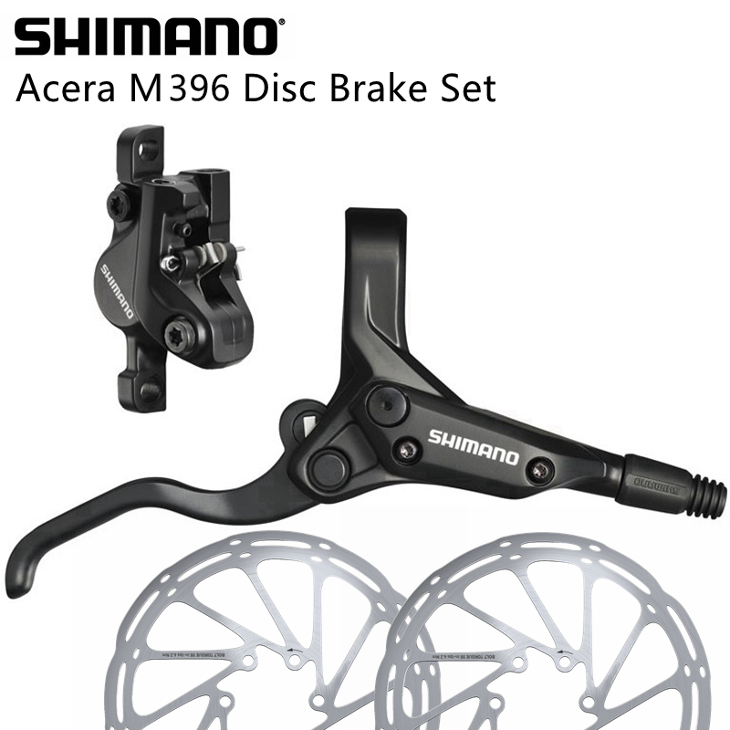 Shimano M395 Hydraulic Disc Brake Set MTB Front /& Rear BL-M395//BR-M395 396