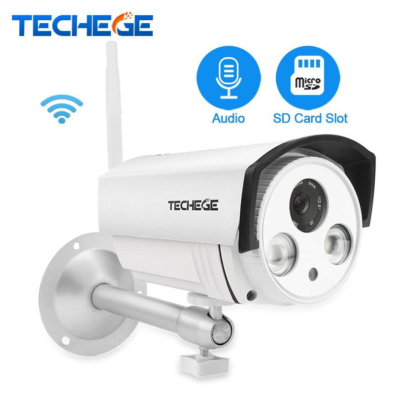 Techege Yoosee IP Camera Audio Record Wifi 1080P 960P 720P ONVIF P2P Wireless Wired CCTV Camera Waterproof SD Card Slot Max 64G gadinan hd 1080p 960p 720p wireless ip camera p2p rtsp motion detected waterproof wifi camera bullet with 64g sd card slot icsee