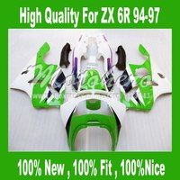 94 97 Mavi beyaz fairing KAWASAKI NINJA ZX 6R 636 94 97 95 96 ZX-6R ZX6R 94 95 96 97 ZX 6R 1994 1995 1996 1997 Fairing Kitleri #