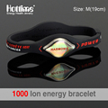Hottime Unisex Bio Energy Trendy Silicone Rubber Flexible Wristband Wrist Band Cuff Bracelet Bangle For Women Men Health Bangle