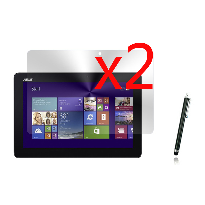 2x films + 2x cloth +1x Stylus, LCD Clear Screen Protector Transparent Film Guards For Asus Transformer Book T200 T200T T200TA