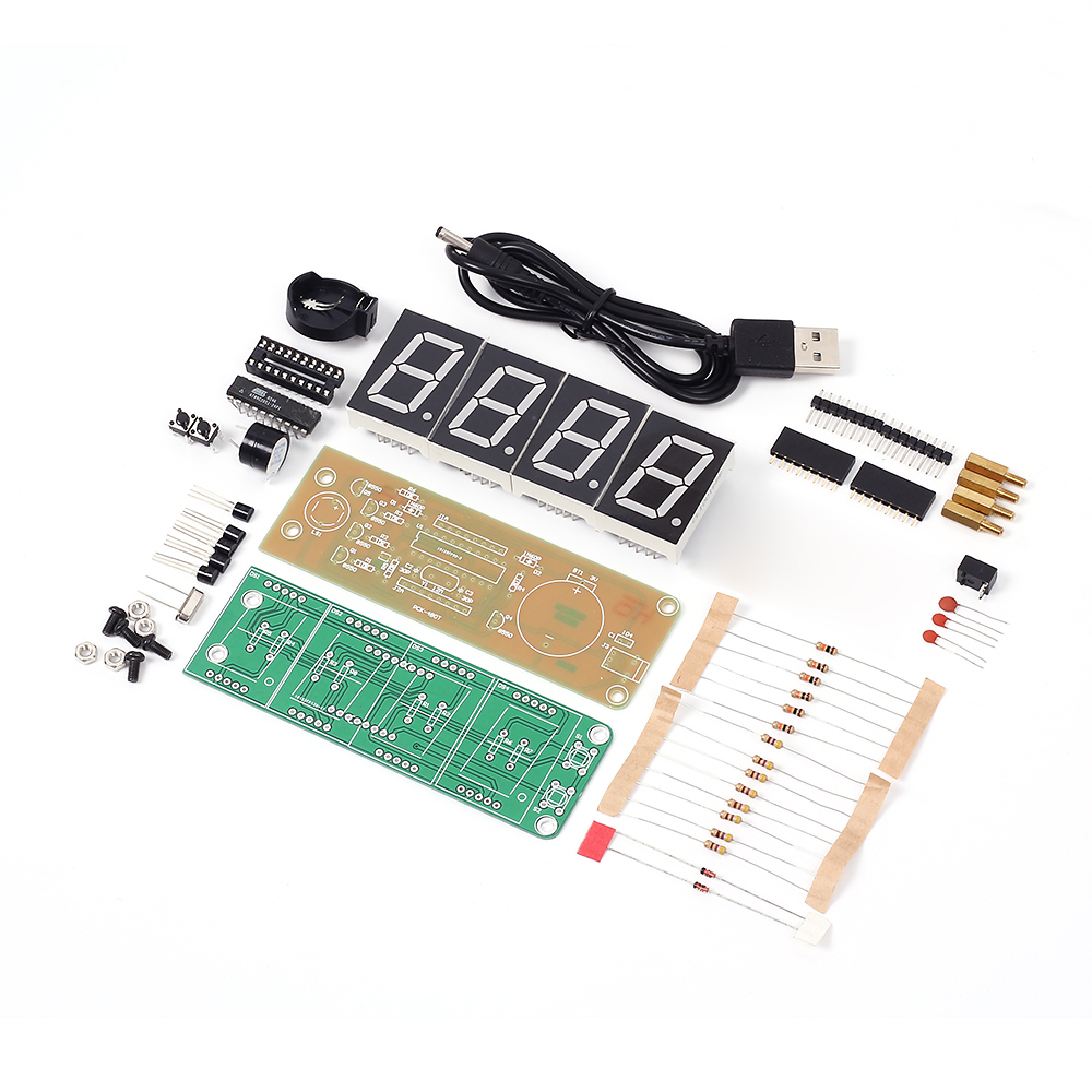Buy Pck 4 4bit Clock Timer Diy Electronic Kit Game Show Buzzer Circuits Led Display Time Accurate Eletronicos Digital Two Way Alarm From Reliable