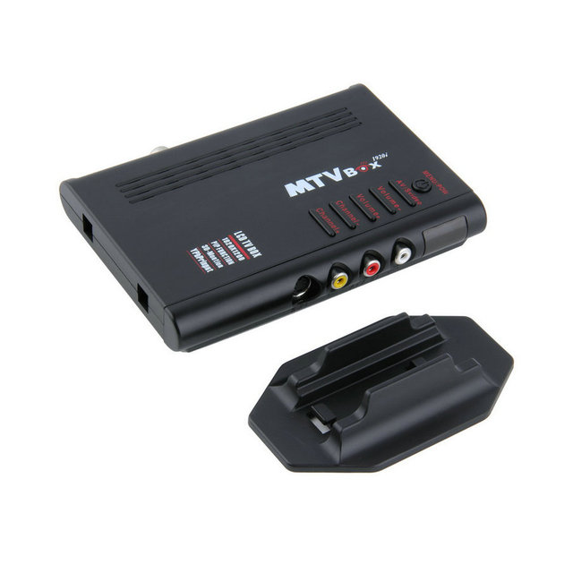 NOVOS Programas de Computador TV Digital Caixa de TV Tuner Receiver Dongle Monitor LCD Preto