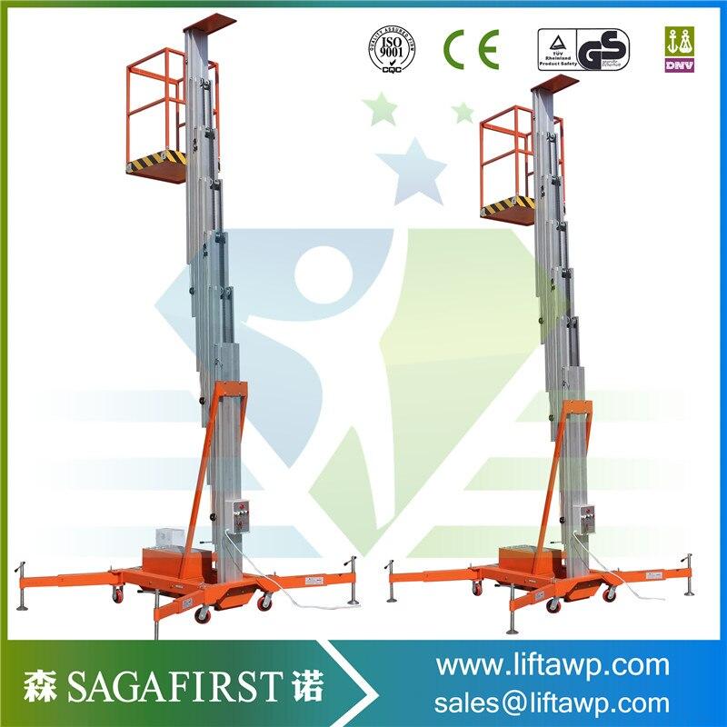 Factory Outlet 6m To 24m Vertical Aluminum Lift Aluminum Work Platform Hydraulic Lifter