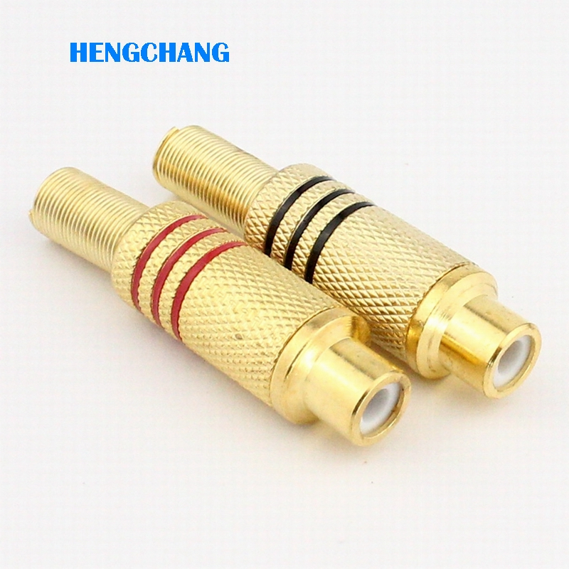Free shipping High quality gold plated RCA socket RCA Female connector 10pcs/lot free shipping 10pcs stereo rca connector female chassis sockets