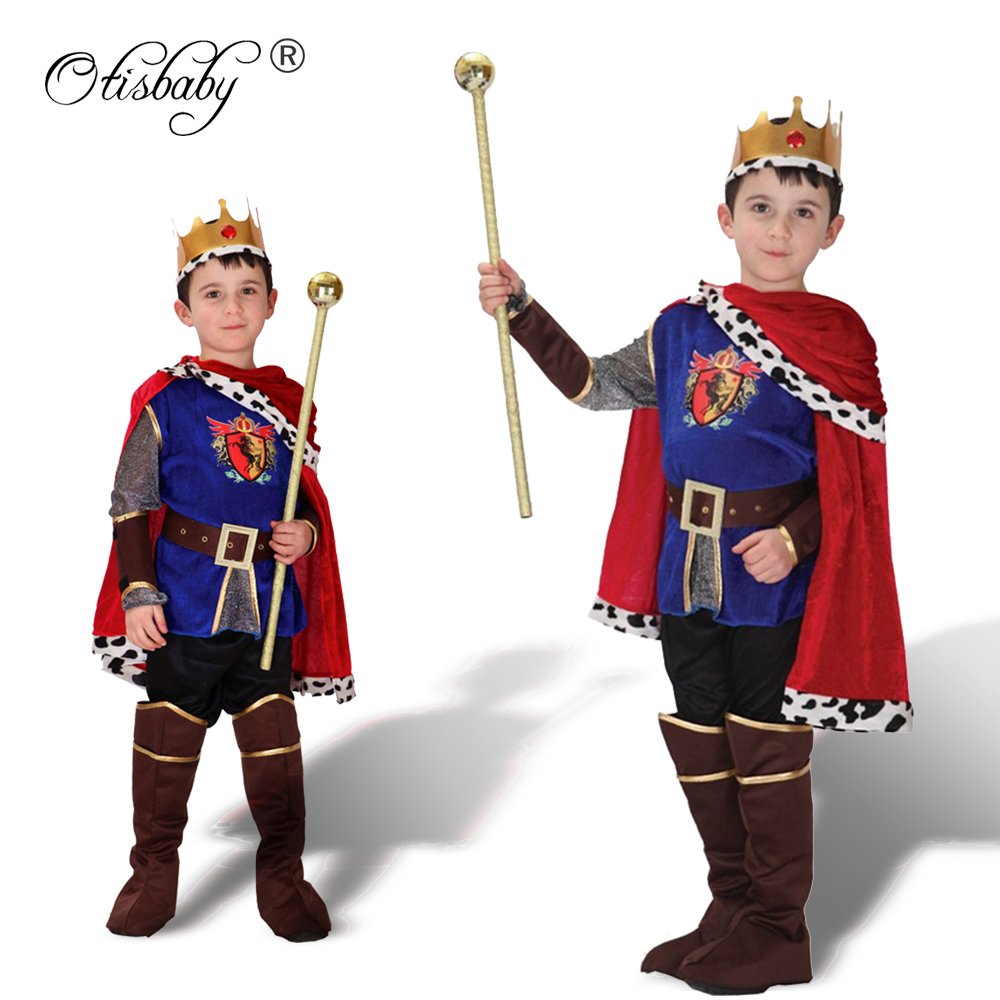 3PCS Christmas Boys Clothing Set Carnival Cosplay The King Halloween Costume Children Fantasia Children's Day Boy Prince Clothes звонок беспроводной volpe q023 16 мелодий дальность 30м белый