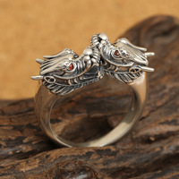 Thai silver ornament double tap restoring ancient ways ring opening paragraphs male personality of men and women