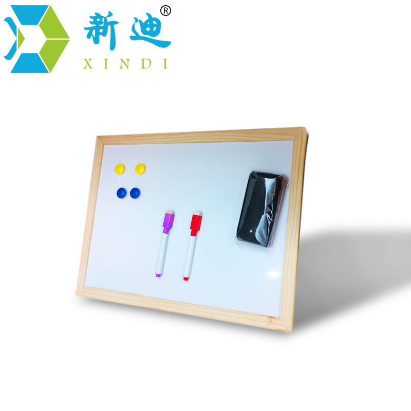 free shipping 2016 dry erase magnetic board wood frame whiteboard can erased easily and write repeated