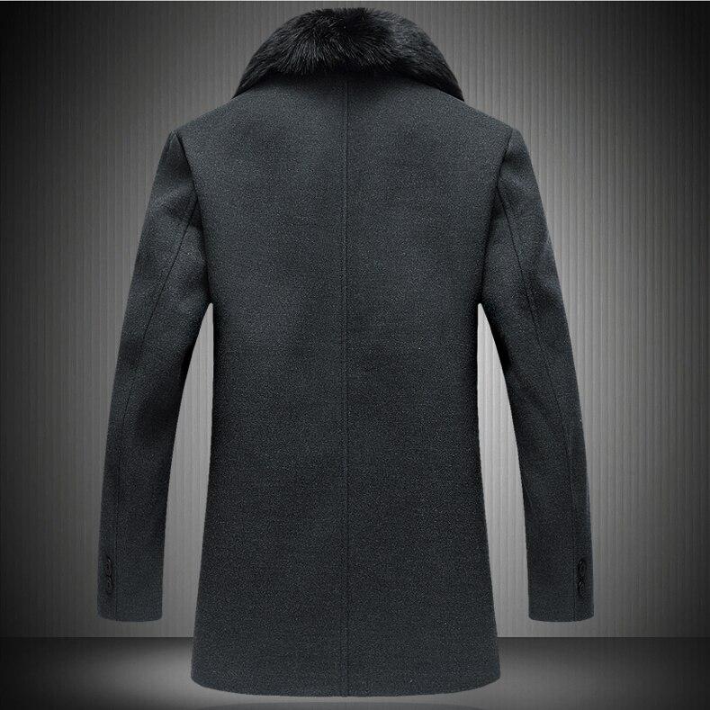 Los Sólido Animales De Marca Hombre Negro Grande Calidad Lana Oscuro Invierno Chaquetas Color Moda Hombres Alta Otoño Pieles Casual Abrigo Caliente Capa gris 0vqxUxwO