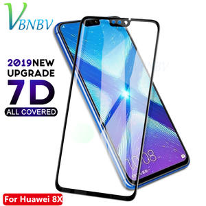 VBNBV 7D Tempered glass For Huawei honor 8X max 6X 7X 7A 7C 8C Screen Protector Protective