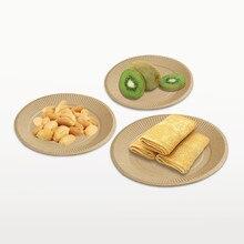 50 шт./упак. одноразовые толщиной крафт Бумага фрукты форма для десертов лоток для барбекю вечерние поставки