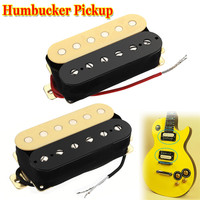 2Pcs Lot Alnico 5 Electric Guitar Double Coil Pickups Humbucker Neck Bridge Pickup Replacement Fits For