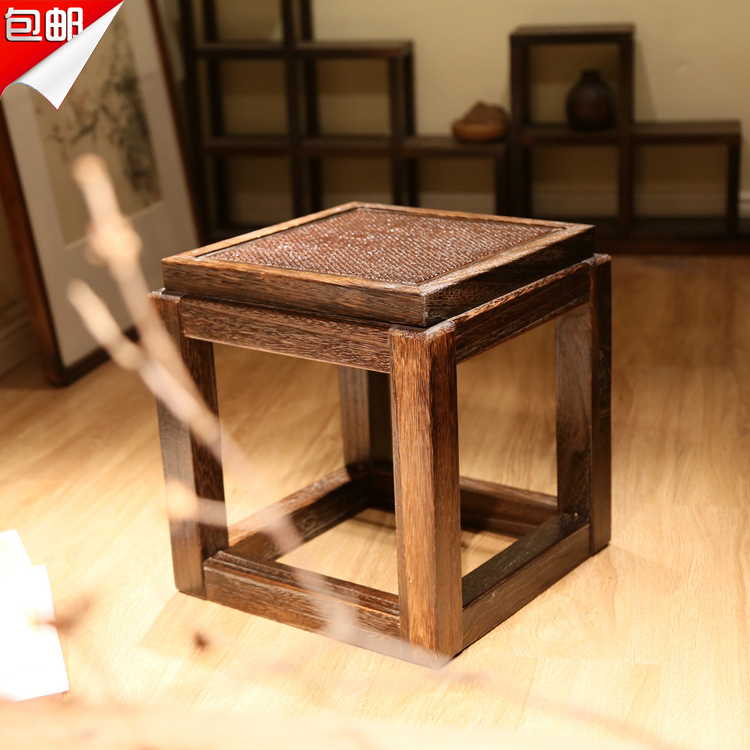 Special shipping Tong wood burning low stool stool changing his shoes stool Chinese small square living room coffee table imitat xeltek private seat tqfp64 ta050 b006 burning test