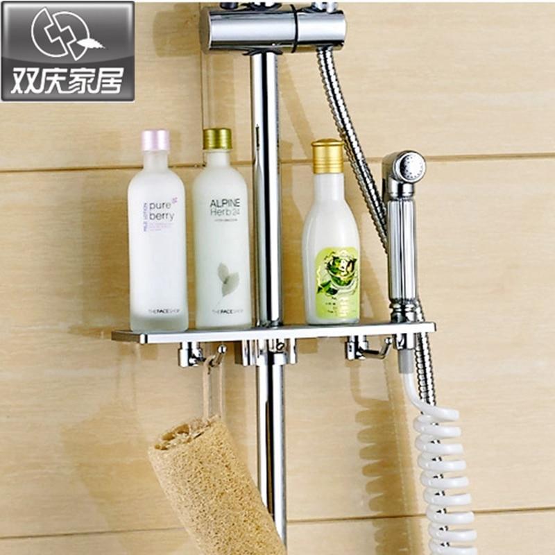 Stainless steel bathroom corner shelf shower room rack for body wash ...