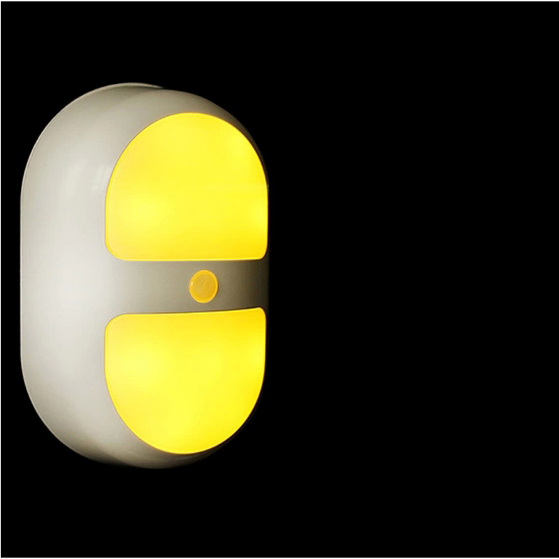 LED Ellipse body Motion Sensor Induction Lamp Infrared Motion Sensor Night Light for Bookcase Wardrobe Shoes Cabinet Home Decor 33 led usb rechargeable night light pir motion sensor night lamp body induction cabinet lamp with magnetic