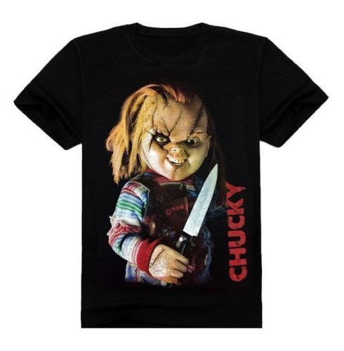 2017 New Arrivals Bride Of Chucky Horror Movie 3D Gedrukt heren 100% - Herenkleding