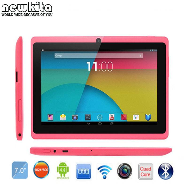 PC Tablet 7″ Quad Core Q88 ROM 8GB Bluetooth Android 4.4 External 3G 1024*600 pxl Bluetooth Wifi Kids Gift Tablet Google Play