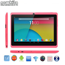 PC de la Tableta de 7 pulgadas Quad Core ROM 8 GB Bluetooth Androide Q88 4.4 External 3G 1024*600 pxl Bluetooth Wifi de la Tableta de Google Play 5 UNIDS