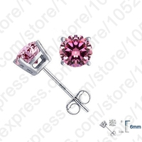 JEXXI Wholesale High Quality Jewelry 925 Sterling Silver Women Accessories Cubic Zirconia CZ 4 Claws Stud