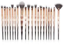 Hot Sale 20 Pcs Makeup Brush High-Grade Plastic Tube and Diamond Handle Eye Makeup Brush Set oval face eye makeup brush black high quality soft bristles multi purpose 5 pcs set new sale fashion