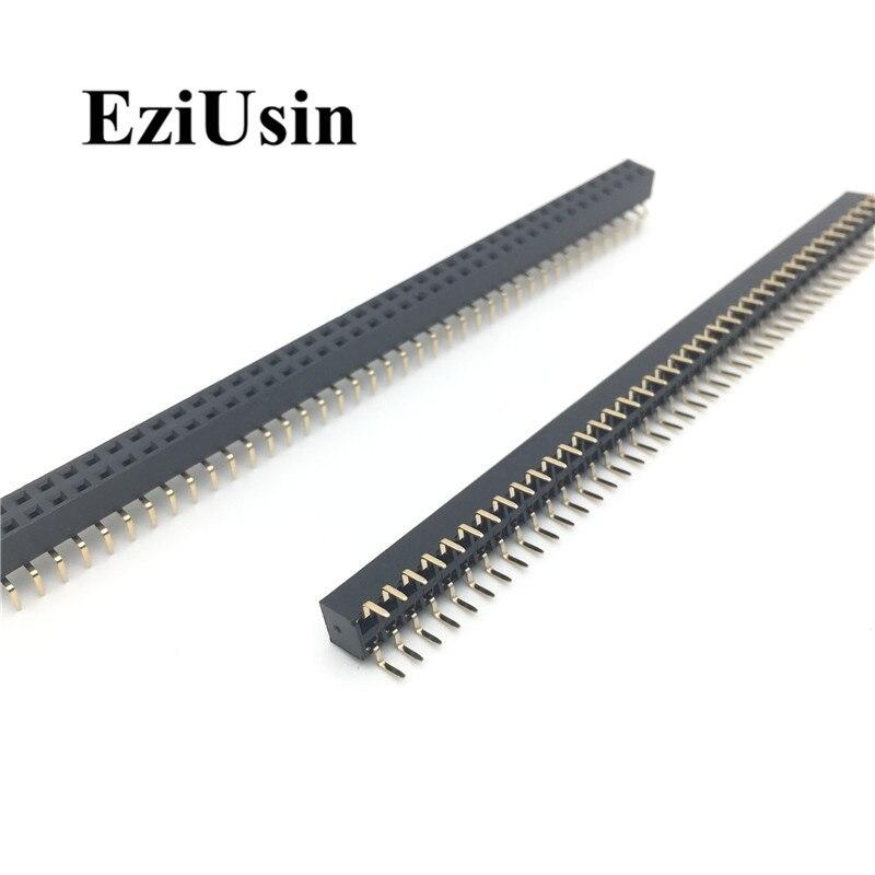 2.54mm Double Row Female Centipede Feet Pins  Breakaway PCB Board Pin Header Socket Connector Pinheader 2*5/10/40Pin For Arduino