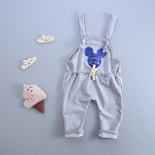 Cotton Cartoon Pattern Boys And Girls Leisure Dungarees 0-4 Years