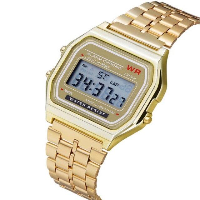 2019 Mens Relógios de Negócios de Aço Inoxidável Relógio À Prova D' Água Relógio Digital de Relógio De Pulso Relogio masculino Erkek Kol Saati Dropship