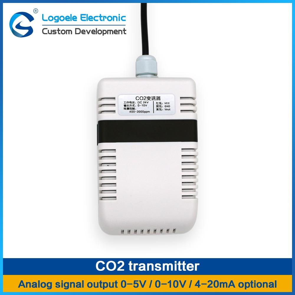High quality 400-2000ppm CO2 transmitter Infsensor CO2 detection sensor module Analog signal output New Free shipping digital output voc air quality analog output formaldehyde sensor qs 01 module as aqm201
