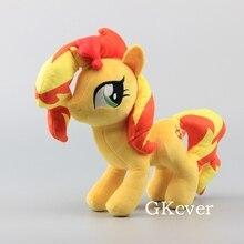 """Аниме милые лошади закат мерцание Мягкие плюшевые игрушки куклы мягкие животные 1"""" 30 см подарок для девочки"""