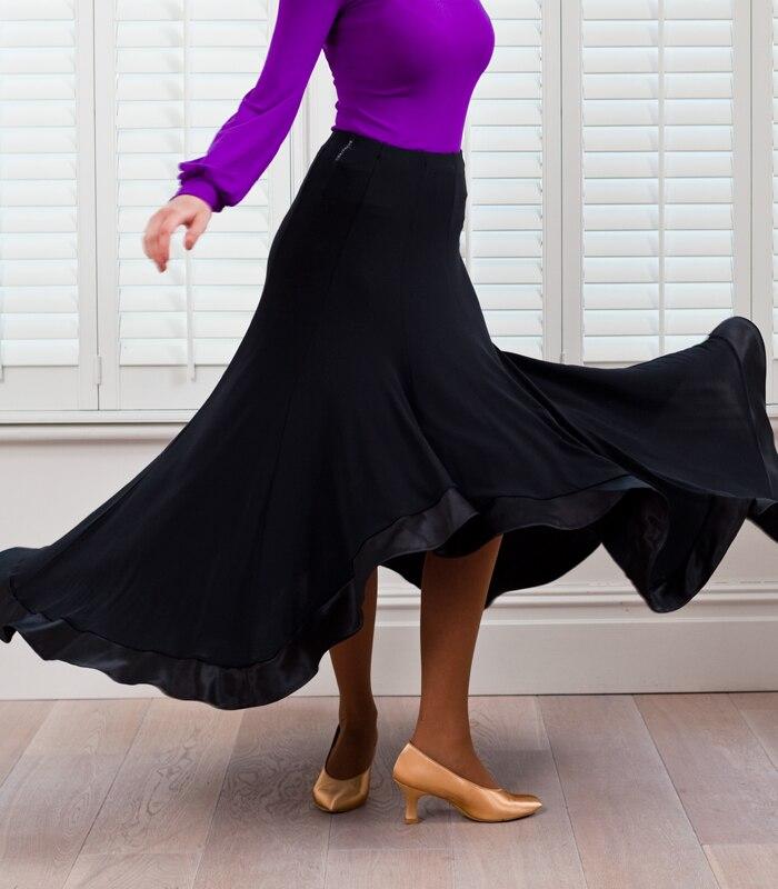 41f0fc44 ᓂDostosuj czarny flamenco spódnice tańca towarzyskiego spódnice ...