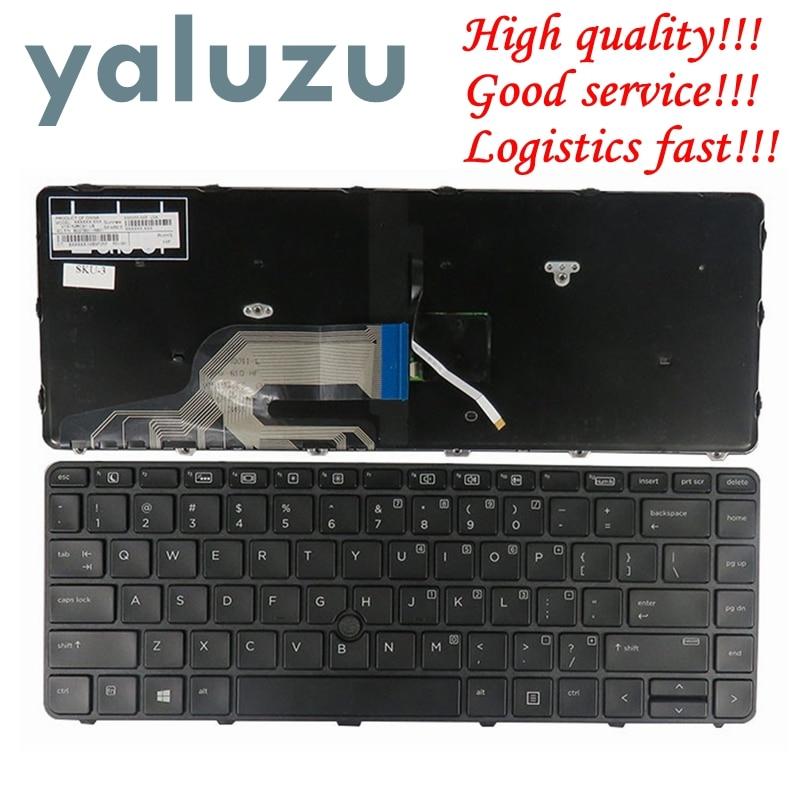 YALUZU US Keyboard For HP ProBook 430 G3 430 G4 440 G3 440 G4 445 G3 Laptop US Keyboard With Frame WITH Backlit With Backlight