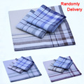 10 unids/lote Nueva Striped partido pañuelos a cuadros de Los Hombres 38*38 cm Tela de Algodón Pañuelo Masculino Bolsillo Cuadrado