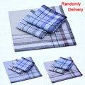 20pcs/lot Classic Striped plaid Man's party handkerchiefs 38*38cm cotton Fabric Hanky Male Pocket Square