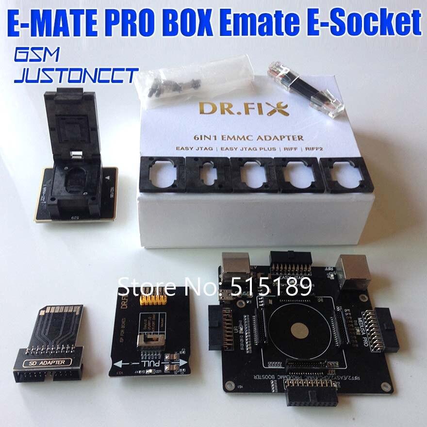 Allsocket EMMC 6in1 adaptateur outil de BGA153/169/221/162/186/529 pour eMMC Pro Box, eMMC Booster Box, Easy Jtag Box