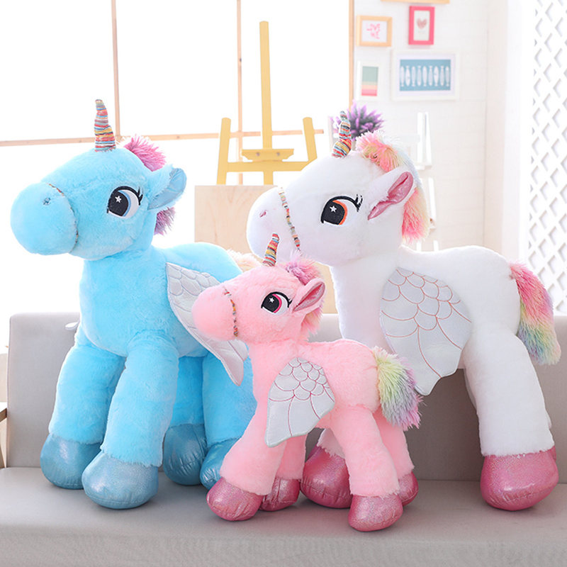 1pc 60cm Cute Plush Unicorn Pillow Toys Soft Plush Animals Horse Cushions Toy Decorations Gifts For Girls And Kids цена
