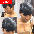 Human Hair Wigs Lace Front Bob Wigs With Bangs None Lace Short Human Hair Wigs 100% Human Hair Wig For Afrian Americans