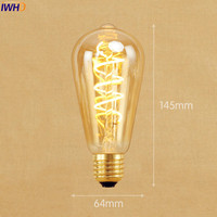 IWHD New Style! Lampada Edison Bulb 220V E27 st64 4W Bombillas Vintage Light Bulb Retro Lamp Ampoules Decoratives A19 G80 G95