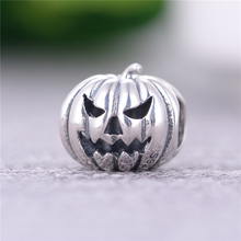 925 Sterling Silver Pumpkin Halloween Charm