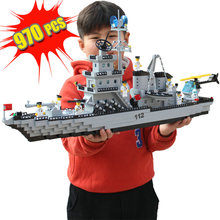 лучшая цена sermoido Militarye Building Blocks Toys For Children Gifts War Heros Battleship Helicopter Weapon Compatible With Legoings