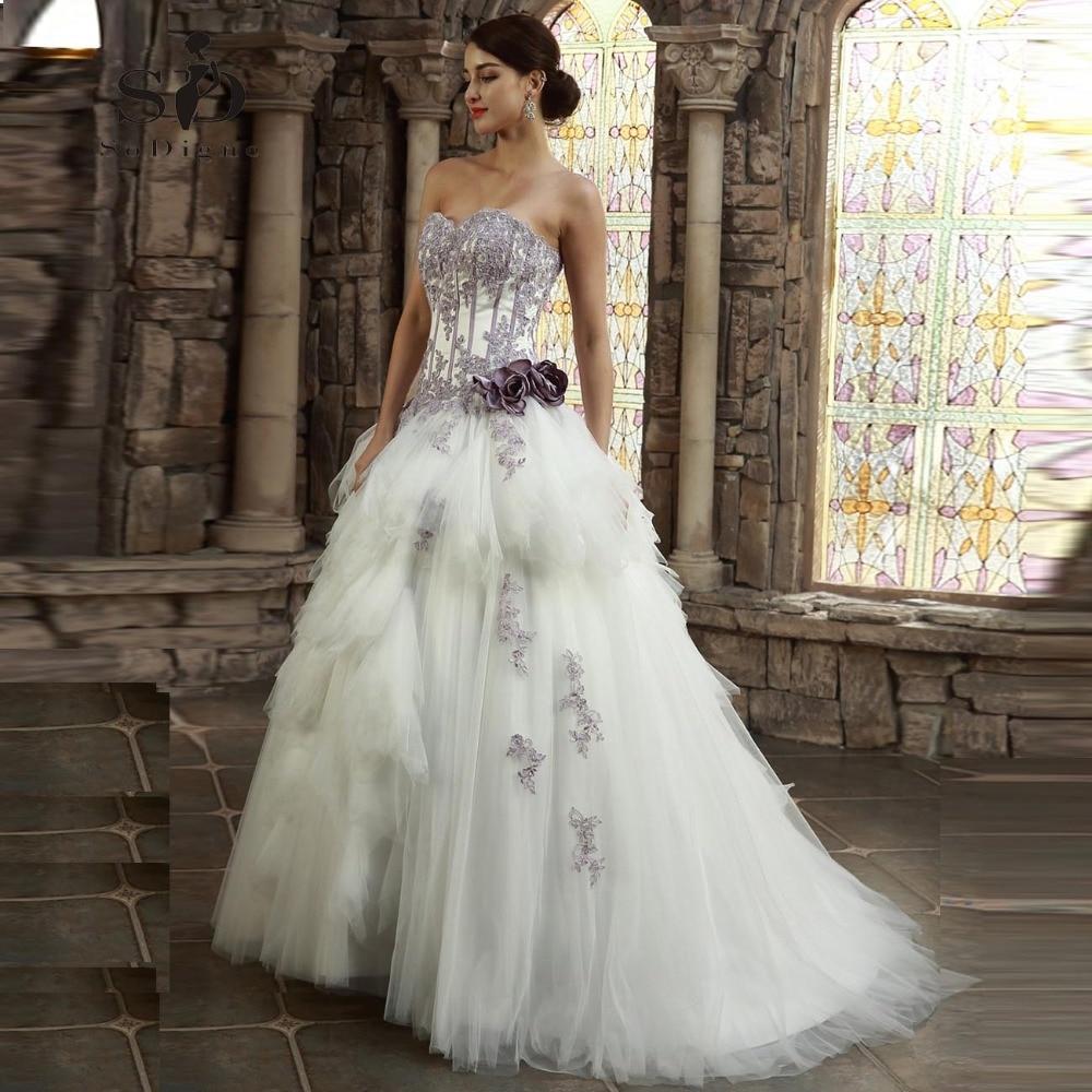 Wedding Dress 2018 SoDigne High Quality Sweetheart Lace Applique Vestido De Noiva Lace Up A Line