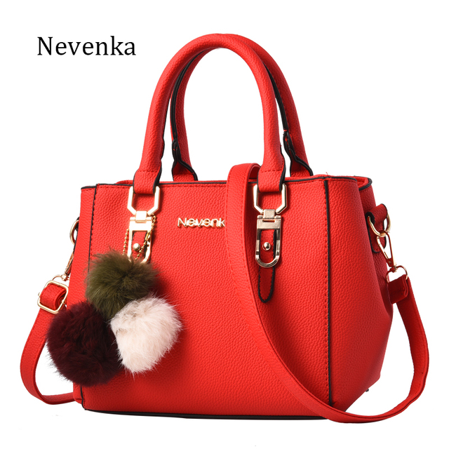 Nevenka Women Bag Pu Leather Tote Brand Name Bag Ladies Handbag Lady Evening Bags Solid Female Messenger Bags Travel Fashion Sac