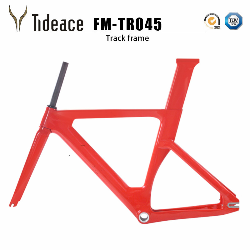 2018 Carbon Track Frame Carbon Fiber Fixed Gear bike frame Carbon Racing Tracking bike Frameset 49/51/54cm with fork seatpost 53cm 55cm 58cm fixed gear bike frame matte black bike frame fixie bicycle frame aluminum alloy frame with carbon fork