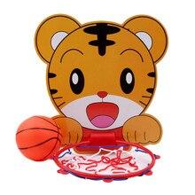 Крытый Регулируемый подвесной баскетбольный клуб обруч портативный мини баскетбольная коробка с мячом детская игра